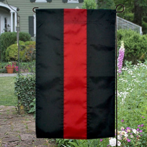 Red Line Nylon Garden Flag - FrontLine Designs, LLC