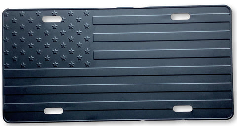 US Flag Subdued License Plate
