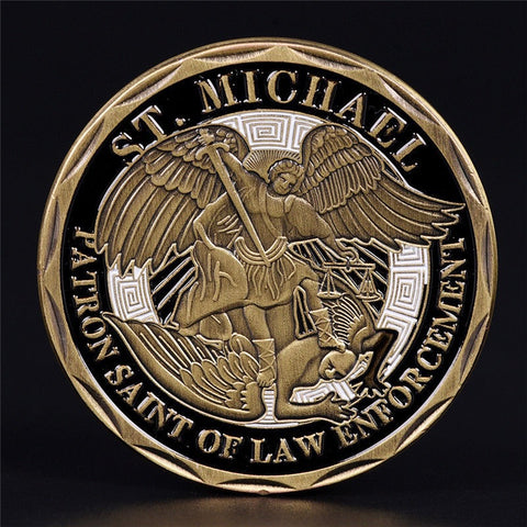 Saint Michael Challenge Coin - FrontLine Designs, LLC