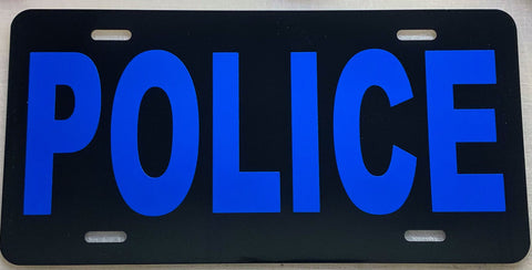 Police Reflective License Plate - FrontLine Designs, LLC