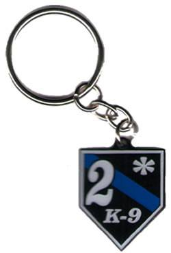 Key Chain - 2* K9 Blue Line Keychain