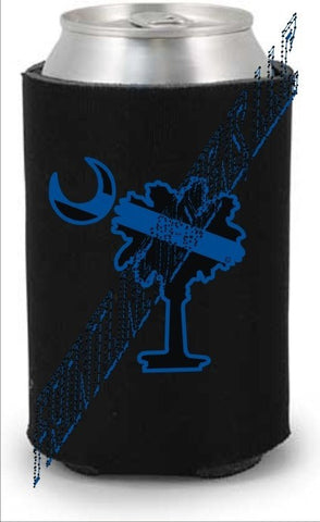 Blue Line Palmetto Can / Bottle Koozie - FrontLine Designs, LLC