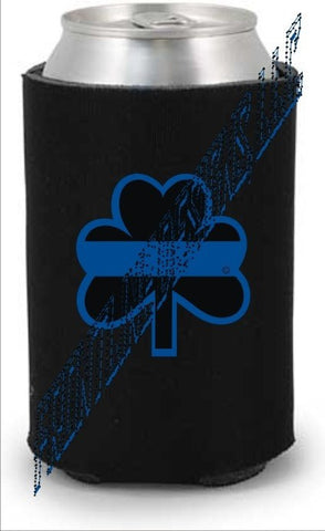 Blue Line Shamrock Can / Bottle Koozie - FrontLine Designs, LLC