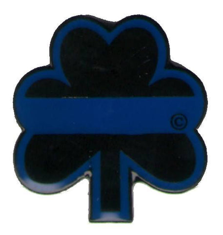 Lapel Pin - Blue Line Shamrock Lapel Pin / Tie Tack