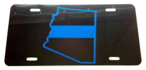 Arizona State Blue Line License Plate - FrontLine Designs, LLC