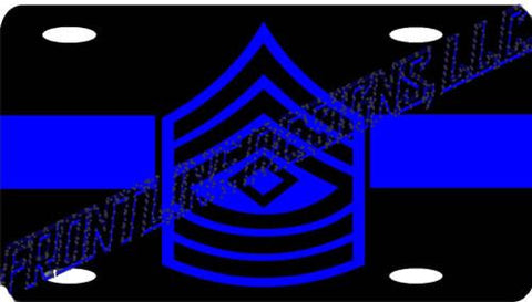 Blue Line 1st Sergeant License Plate - FrontLine Designs, LLC