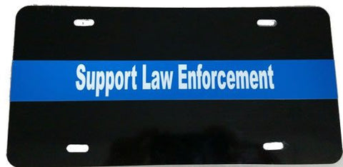 Blue Line Civilian License Plate - FrontLine Designs, LLC