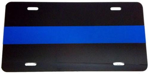 License Plate - Blue Line License Plate