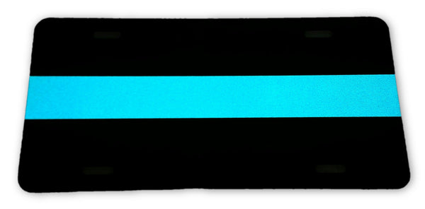 Blue Line License Plate - FrontLine Designs, LLC