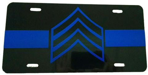 License Plate - Blue Line Sergeant License Plate