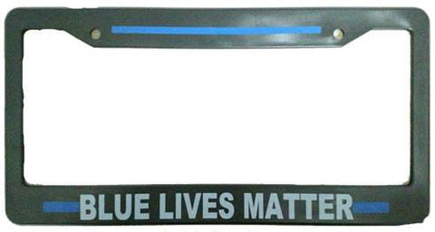 "Blue Line ""Blue Lives Matter"" Plate Holder - FrontLine Designs, LLC"
