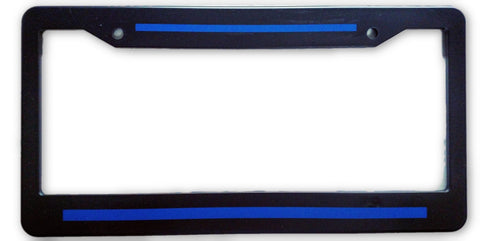 LIcense Plate Frame - Blue Line Plate Holder
