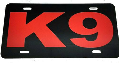 License Plate - K-9 License Plate