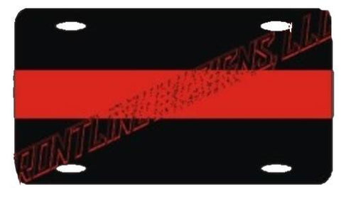 Red Line License Plate - FrontLine Designs, LLC