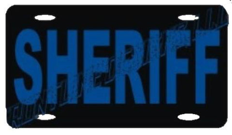 Sheriff Reflective License Plate - FrontLine Designs, LLC