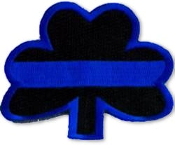 Blue Line Shamrock Patch - FrontLine Designs, LLC