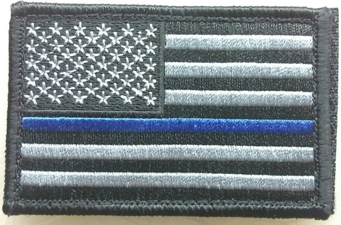 US Blue Line Grey Subdued Patch - FrontLine Designs, LLC