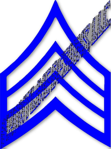 Sergeant Rank Decal - FrontLine Designs, LLC