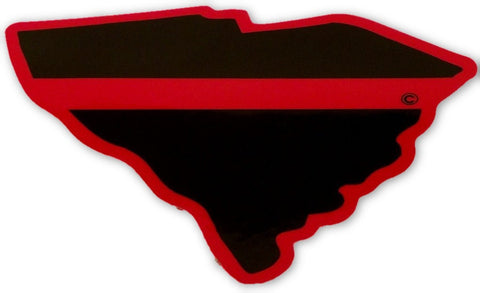 South Carolina State Red Line Decal - FrontLine Designs, LLC