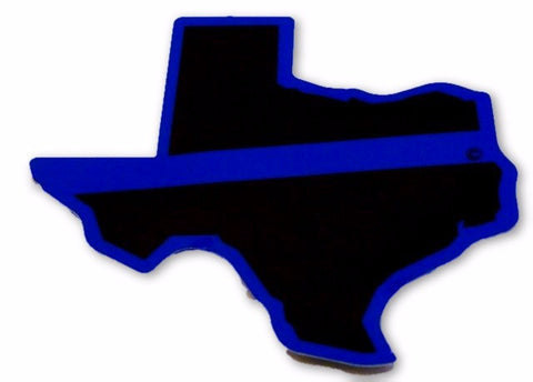 Texas State Blue Line Decal - FrontLine Designs, LLC