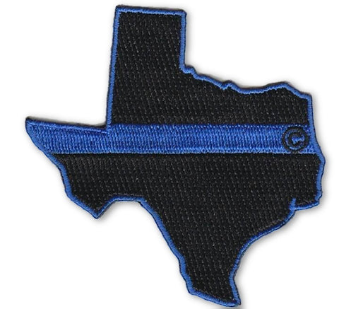 Texas State Blue Line Patch - FrontLine Designs, LLC