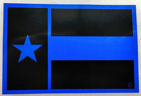Texas State Flag Blue Line Decal - FrontLine Designs, LLC