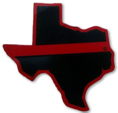 Texas State Red Line Decal - FrontLine Designs, LLC