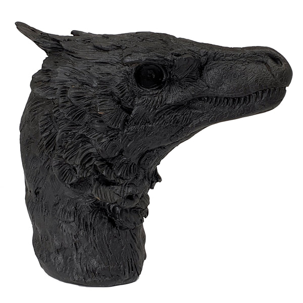 Bambiraptor Bust - Life Size Rendition - Triassica Dinosaur Fossils