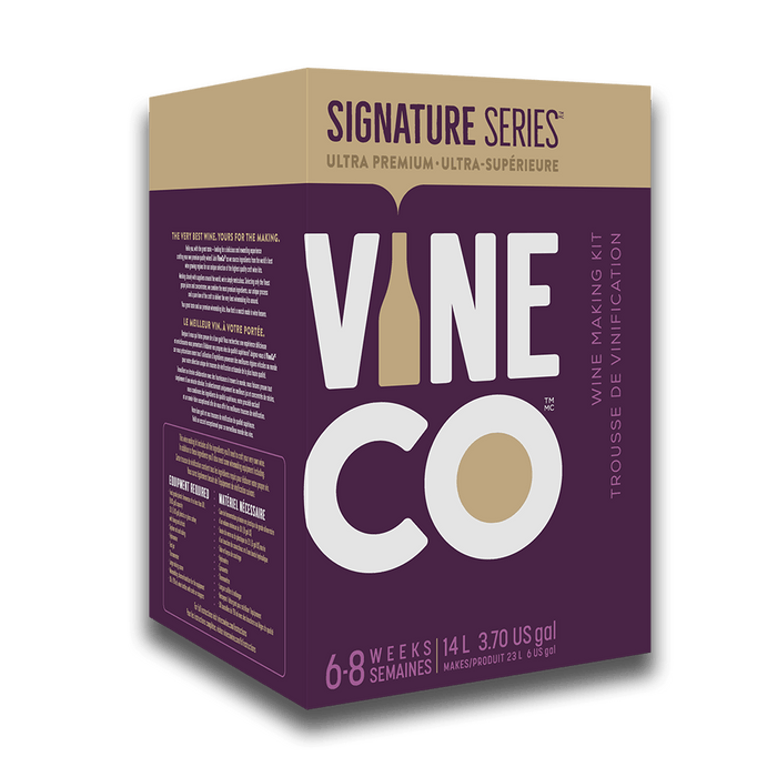 PREMIUM WINE KITS - Cabernet Sauvignon, Sonoma Valley California - Red Signature Series Wine Kit With Grape Skins