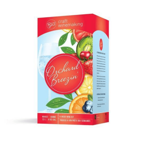 FRUIT WINE KITS - Peach Perfection - White Orchard Breezin Fruit Wine Kit