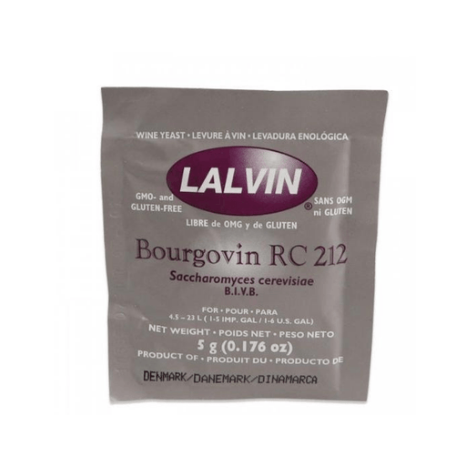 WINE YEASTS - Lalvin Bourgovin RC 212 Yeast