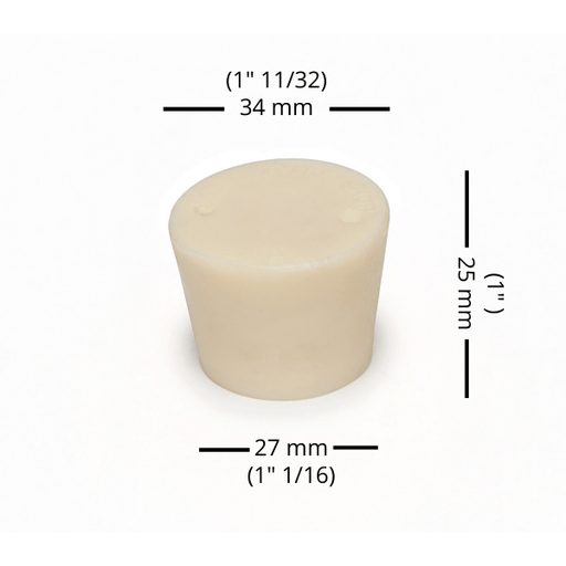 BUNGS - #6.5 Rubber Bung Solid