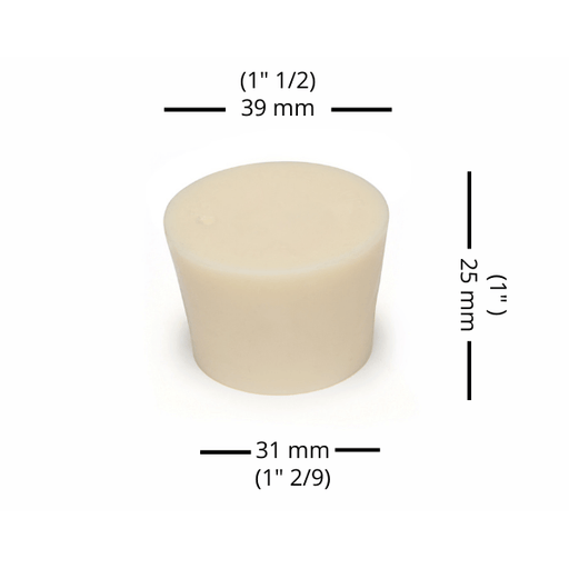 BUNGS - #7.5 Rubber Bung Solid