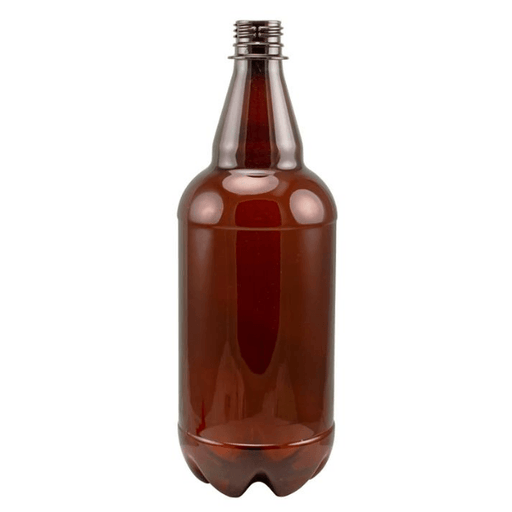 BOTTLES - 1L Brown Plastic Beer Bottles - Case Of 12