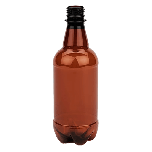 BOTTLES - 500ml Brown Plastic Beer Bottles - Case Of 24