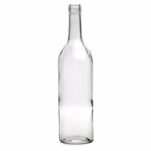 BOTTLES - 750ml Glass Clear Bordeaux Bottle - Case Of 12