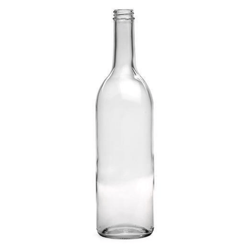 BOTTLES - 750mL Glass Clear Screw Cap Bordeaux Bottle - Case Of 12