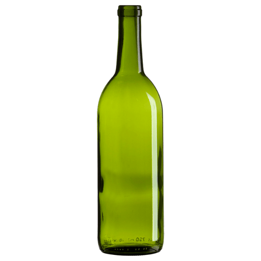 WINE BOTTLES - 750ml Glass Green Bordeaux Bottle - Case Of 12