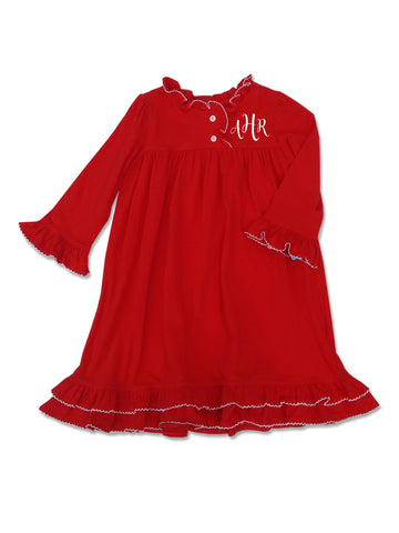 Girls Red Nightgown