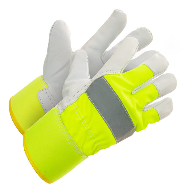 Hi Vis Abrasion Resistance Thinsulate Lined Work Gloves