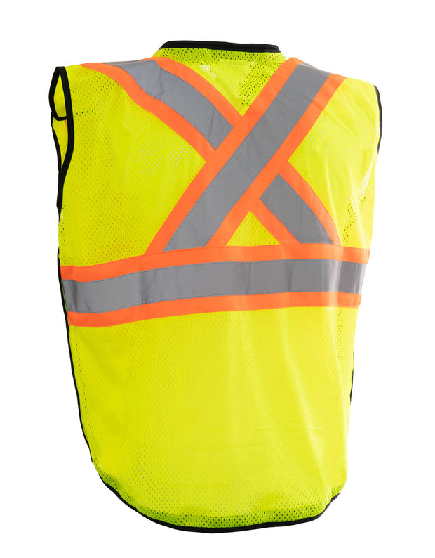 Deluxe Zip-up Safety Vest 5 Point Tear-away