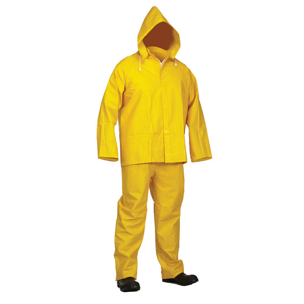 Yellow PVC Rainsuit: Jacket & Bib-Pants