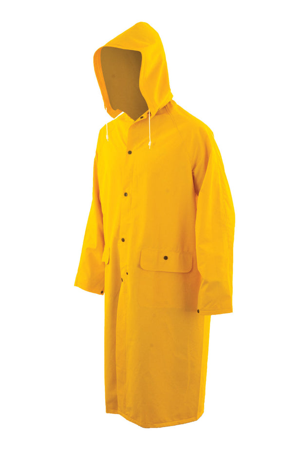3/4 Length Rain Coat with Durable Fire Resistant Finish