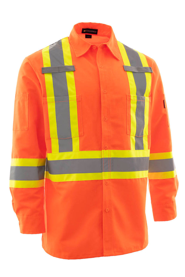Hi Vis Ripstop Safety Work Shirt