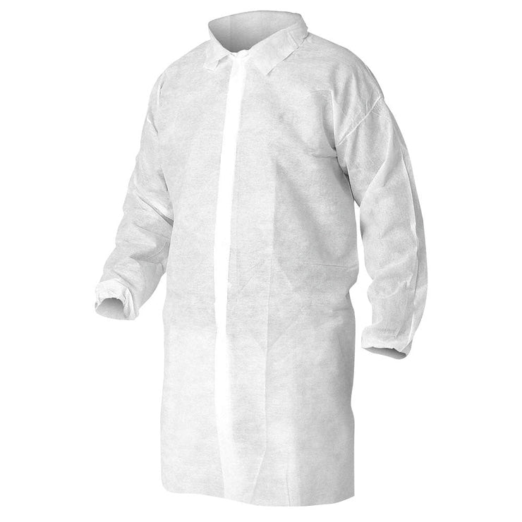 White Polypropylene Lab Coat