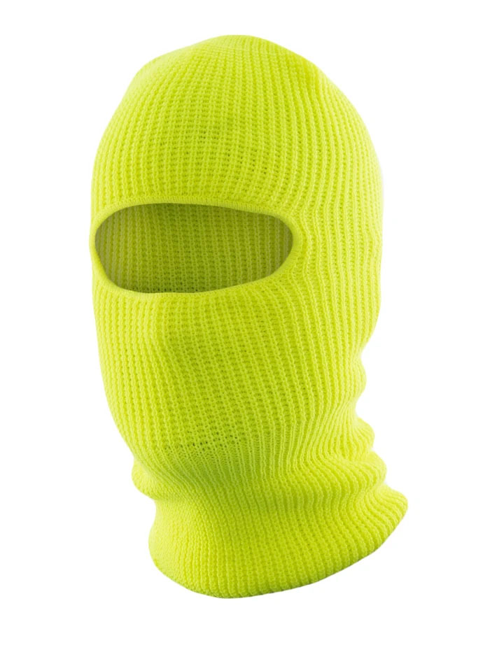 Hi Vis Knitted Acrylic Balaclava, one opening