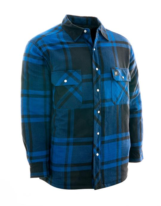 Dawson Blue Plaid Quilted Flannel Shirt