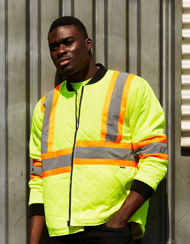 Hi Vis Safety Freezer Jacket