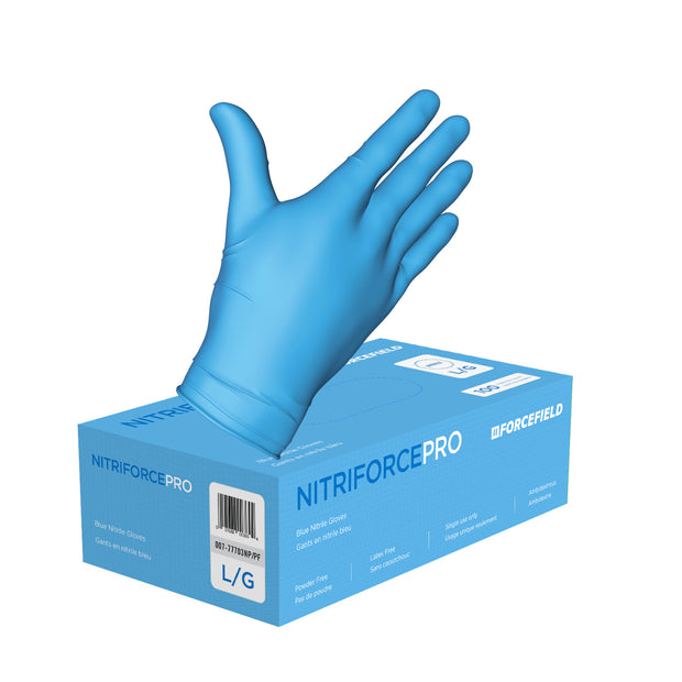 NitriForce Pro Nitrile Disposable Gloves (Case of 1000 Gloves)