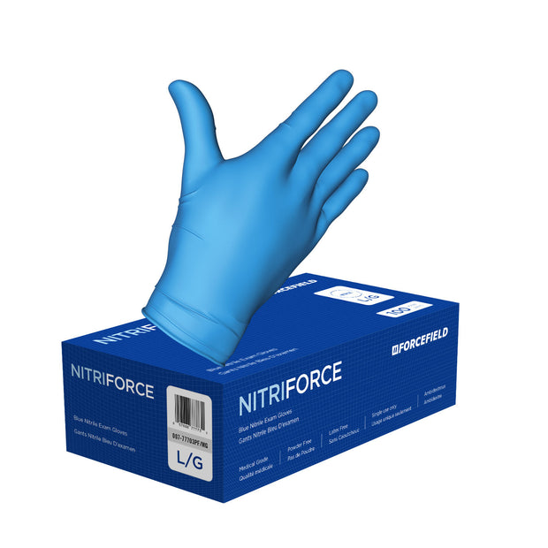 NitriForce Nitrile Disposable Examination Gloves (Case of 1000 Gloves)